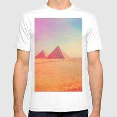 Pharaohs & Pyramids II. MEDIUM White Mens Fitted Tee
