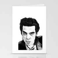 "nick cave Stationery Cards featuring ""Nick Cave"" by Jocke Hegsund"