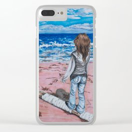 Pensive Clear iPhone Case