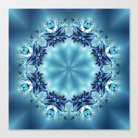 snowflake Canvas Prints featuring Snowflake by Mr. Pattern Man