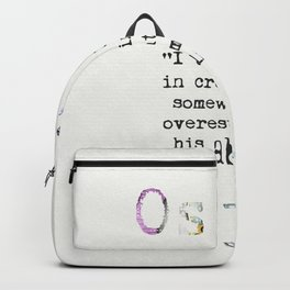Oscar Wilde quote 4 Backpack