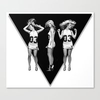 britney Canvas Prints featuring Britney Dancing by eriicms