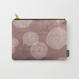 Blush Jellies - pink home decor, sea creature art, animal print, gold details jellyfish Carry-All Pouch