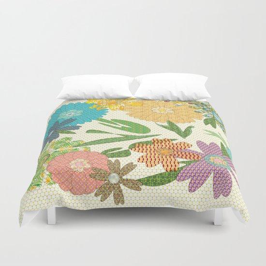 Flower Gardens Duvet Cover