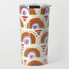 Boho Rainbow - Orange Travel Mug