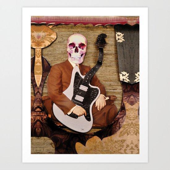 Guitar Reaper Art Print