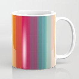 Retro Rainbow Striped Pattern Coffee Mug