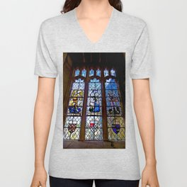 Stained Glass Unisex V-Neck