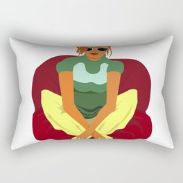 red-haired girl with glasses Rectangular Pillow