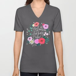 Pretty Sweary 2.0: Shut up and have some fucking cake Unisex V-Neck