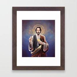 Saint Keanu of Reeves Framed Art Print