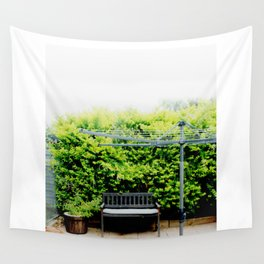 Bench in Overcast Wall Tapestry