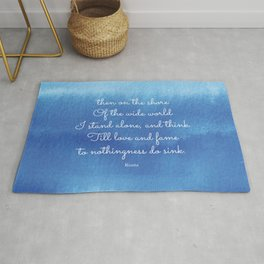 then on the shore of the wide world I stand alone - Keats Rug