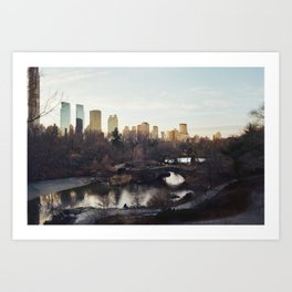 Cold City Art Print