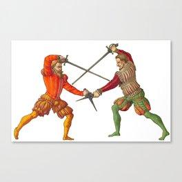 A Gentlemen's Duel Canvas Print