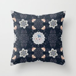 Decorative symmetry and nature Throw Pillow