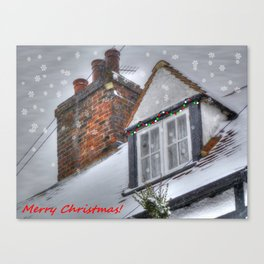 Winter Cottage Christmas Canvas Print