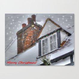 Winter Cottage Christmas Canvas Print