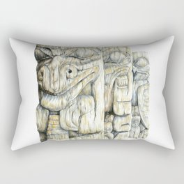 Haida Totems Rectangular Pillow