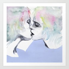 lonely boy, lonely girl Art Print
