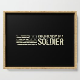 Proud Grandpa of a Soldier Serving Tray