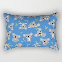 Koala Cute Kids Blue Koalas Animal Pattern Rectangular Pillow