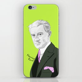 Maurice Ravel (Lime Background) iPhone Skin