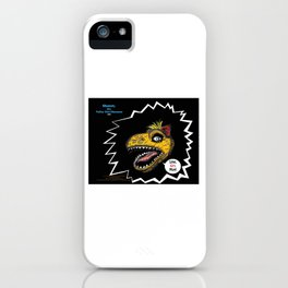 "SHMUT, The Valley-Girl Dinosaur: sez ""Like, Grr, Man iPhone Case"