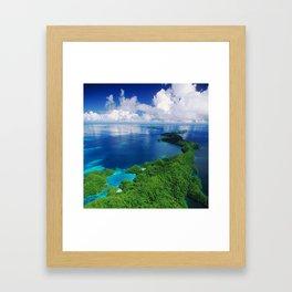 WOW!!! PALAU!! Tropical Island Hideaway Framed Art Print