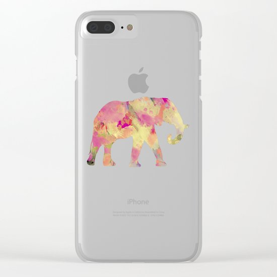 Abstract Elephant II Clear iPhone Case