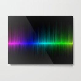 Rainbow Radio Waves Digital Illustration - Artwork Metal Print