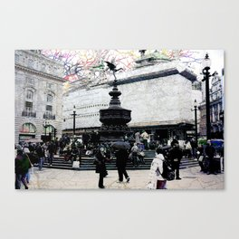 London VIII - Eros Statue Canvas Print