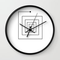 sun and moon Wall Clocks featuring Sun by Kristijan D.