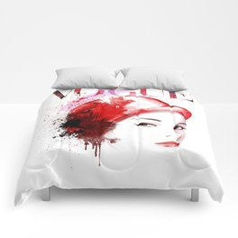 Vogue Fashion Illustration #11 Comforters