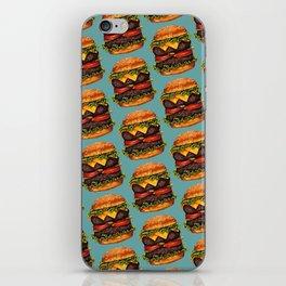 Double Cheeseburger Pattern iPhone Skin