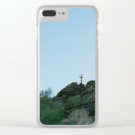 Arizona Desert Moon Clear iPhone Case
