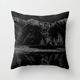 Knik River Mts. Pop Art - 4 Throw Pillow