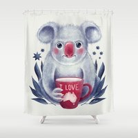 australia Shower Curtains featuring I♥Australia by Lime
