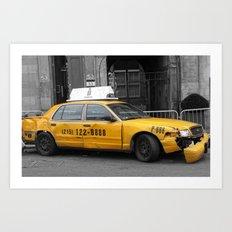 World War Z Taxi Cab Art Print