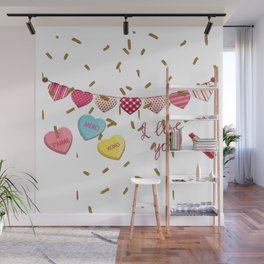 French Love  Je Taime Wall Mural