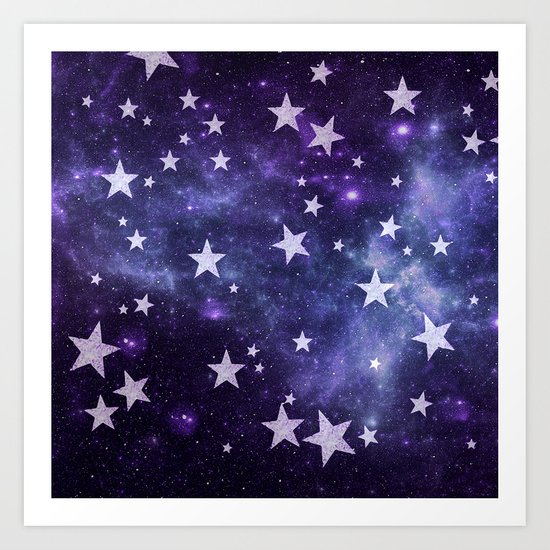 ALL STARS PURPLE Art Print