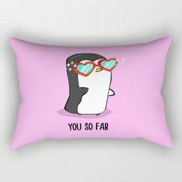 Fabulous Penguin Rectangular Pillow
