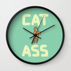 Cat Ass Wall Clock