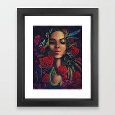 Garden Snake Framed Art Print