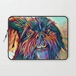 The GRIFFON from our POP YOUR POOCH line Laptop Sleeve