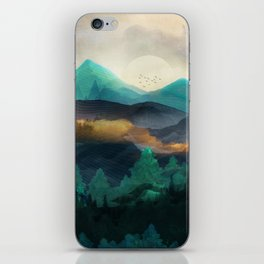 Green Wild Mountainside iPhone Skin