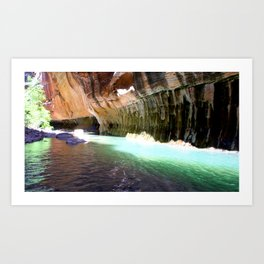 The Narrows Hike Art Print