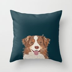 Hollis - Australian Shepherd gifts for dog owners pet lovers dog people gifts for dog person Throw Pillow