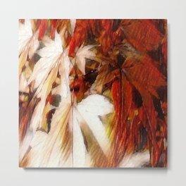 Autumn Blush Abstract Metal Print