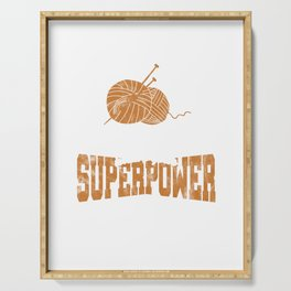 Crocheters Superpower Funny Crochet Gifts  Serving Tray